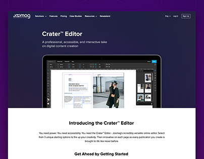 Joomag Crater™ Editor Page