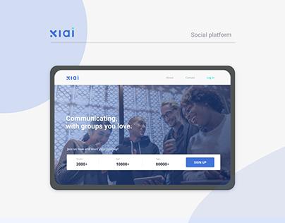 Social platform website design