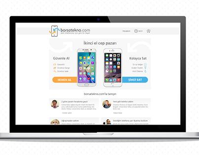 Borsatekno Web Site UX/UI