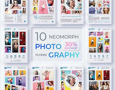 10 Neomorph Photography Flyer Template
