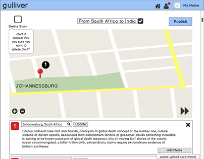 Gulliver : an interactive storytelling mapplication