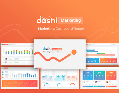 Dashi Marketing – Dashboard Report PowerPoint Template