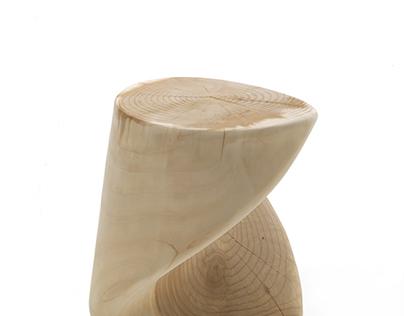 Stool Truciolo winner of 3° Design Award Riva1920