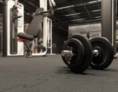 Gym interior - visualization