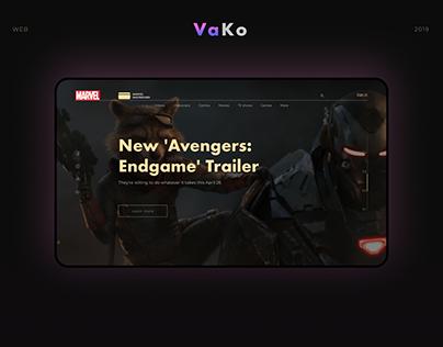 Marvel.com Header Redesign Concept