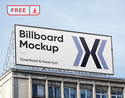 Free Big Billboard Mockup