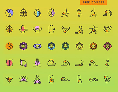 Free Yoga Icon Set