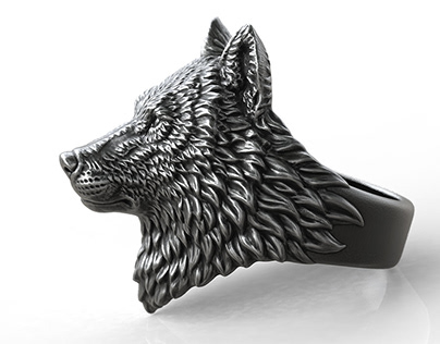 Proud Wolf ring. Jewelry design