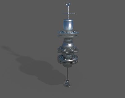 Blender 3d Steam Vertex Flow Meter Modeling Rendering