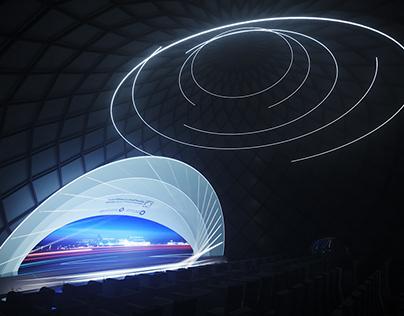 Futuristic stage designs