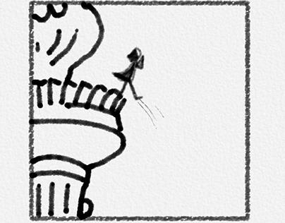 Comic strip 4 frames