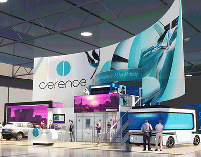 Custom 2 Story 30'x70' Exhibit for Cerence