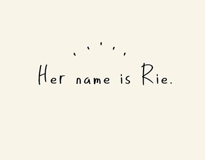 Her name is Rie (Free Font)