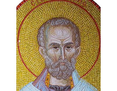 St. Nicholas, mosaic.