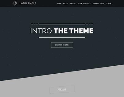 Land Angle - App Landign Page Design