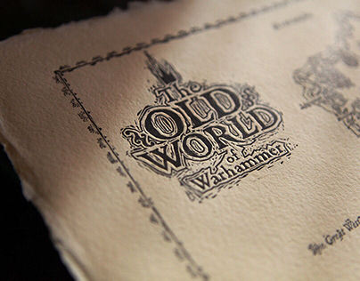 Hand printed Map – The Old World of Warhammer