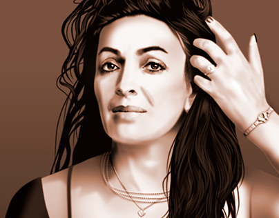 Vector portrait of a beautiful woman