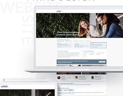Unum Agent Site - Redesign