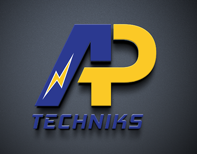 Logo for AP Techniks, electrical parts supplier.