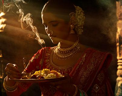 SUNDARI BY SULAKSHMI INSPIRED BY RAJA RAVI VARMA