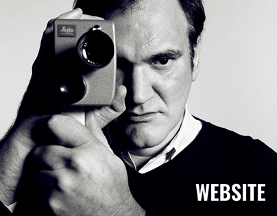 Quentin Tarantino - concept of personal Website