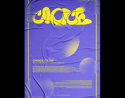 Choice custom typography poster