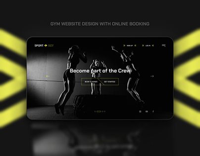 Gym website design with online booking