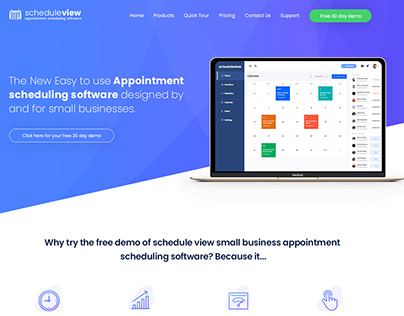 Responsive Landing Page for Software tools