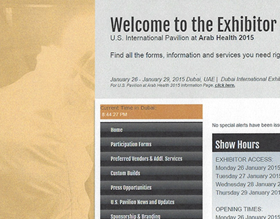 Archive: Tradeshow Organizer Webmaster/Senior Designer