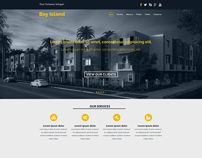 One page web design UI
