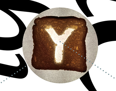 Toast Type, poster design, 2020.