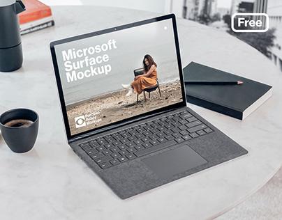 Freebie - Free PSD Microsoft Surface Mockup