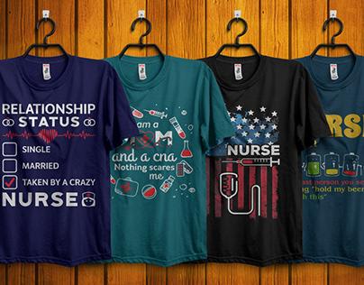 Nurse T-Shirt Designs Bundle