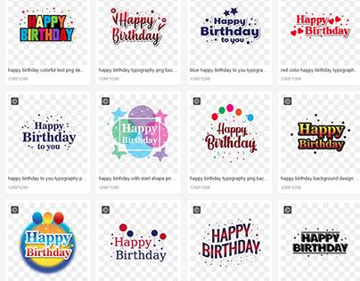 Happy Birthday PNG Background Design ( FREE )