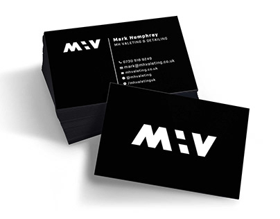 MH Valeting brand identity | Logo and business cards