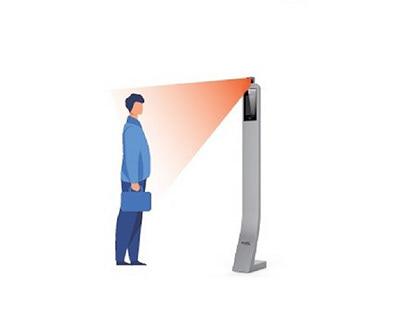 Controle de acesso facial e temperatura