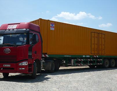 Xe container 40 feet tiện lợi được người tiêu dùng ưa c