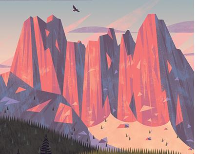 North Cascades National Park poster