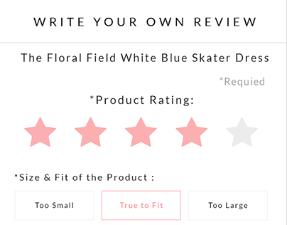 Feedback, Customer Review form, User Interface, Ui/ux