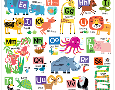 Alphabet and Numbers Wall Art