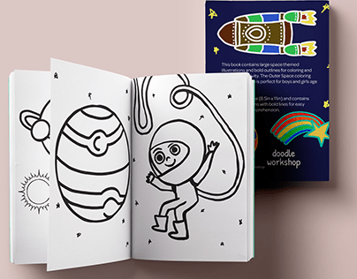 The Outer Space coloring Book for toddlers