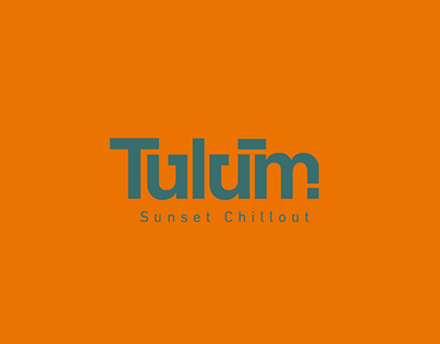 Visual Identity for TULUM Sunset Chillout (Rio/BRA)