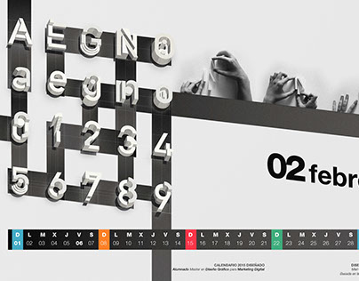 Creative typography for calendar