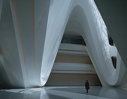 the Interior Space of MICA Art Museum