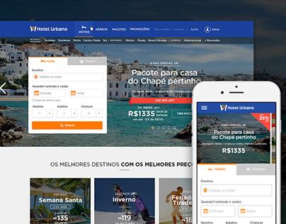 Hotel Urbano - Homepage Redesign