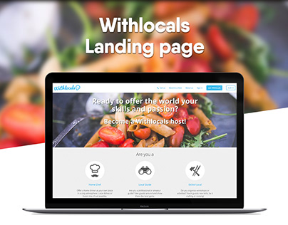 Withlocals Landing page. Become a Withlocals host