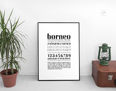 Borneo Typeface