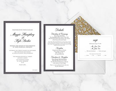 Wedding Invitation: Maggie + Kyle