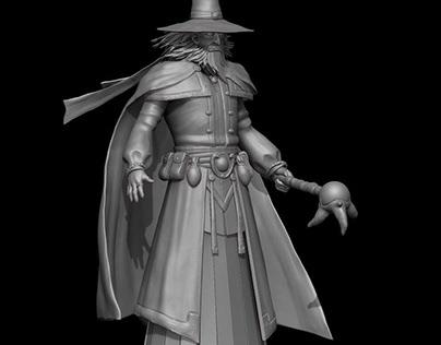 Dark Wizard Model by D Art