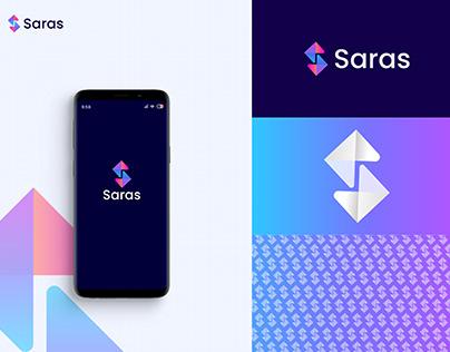 Saras Modern Logo, Letter S, Logo Design